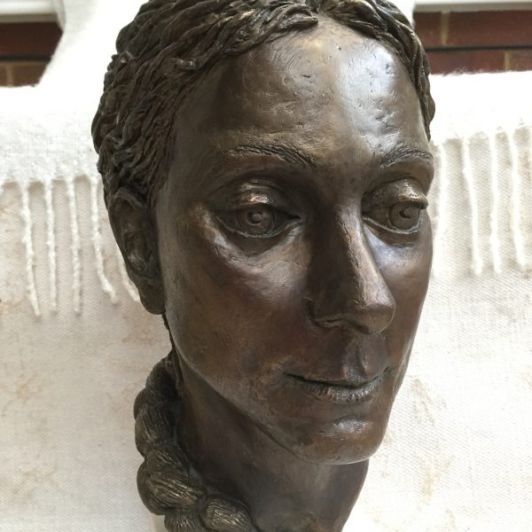 Sudhira, portrait in bronze