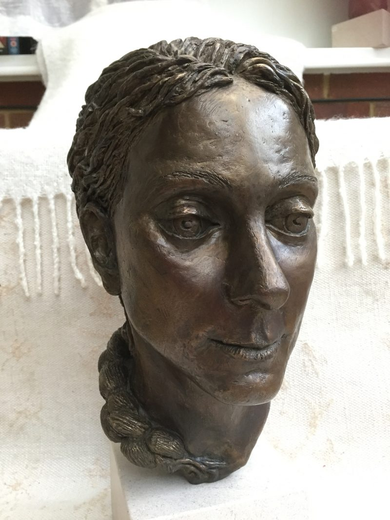 Sudhira, portrait in bronze